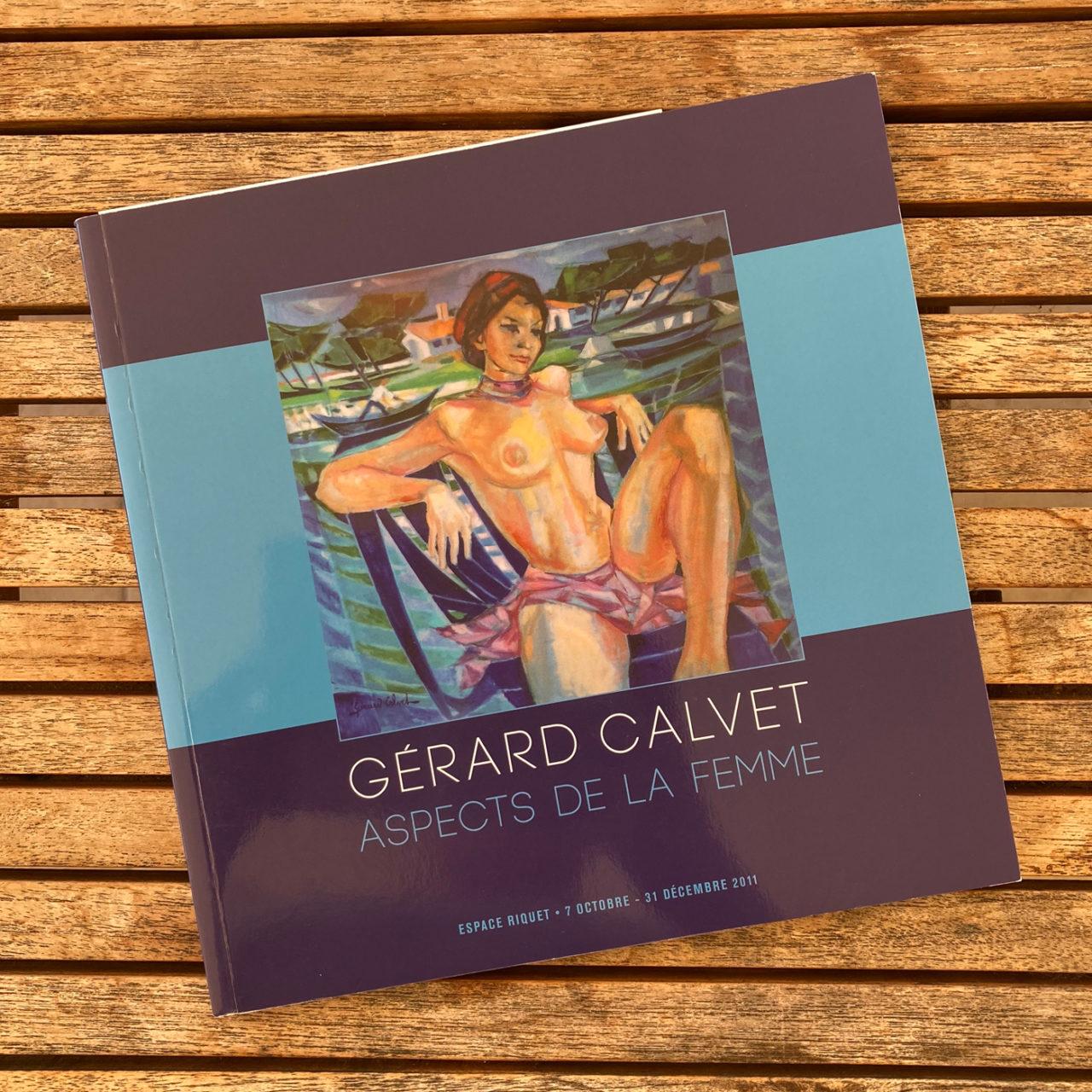 Création identité visuelle du catalogue de l'exposition Gérard Calvet