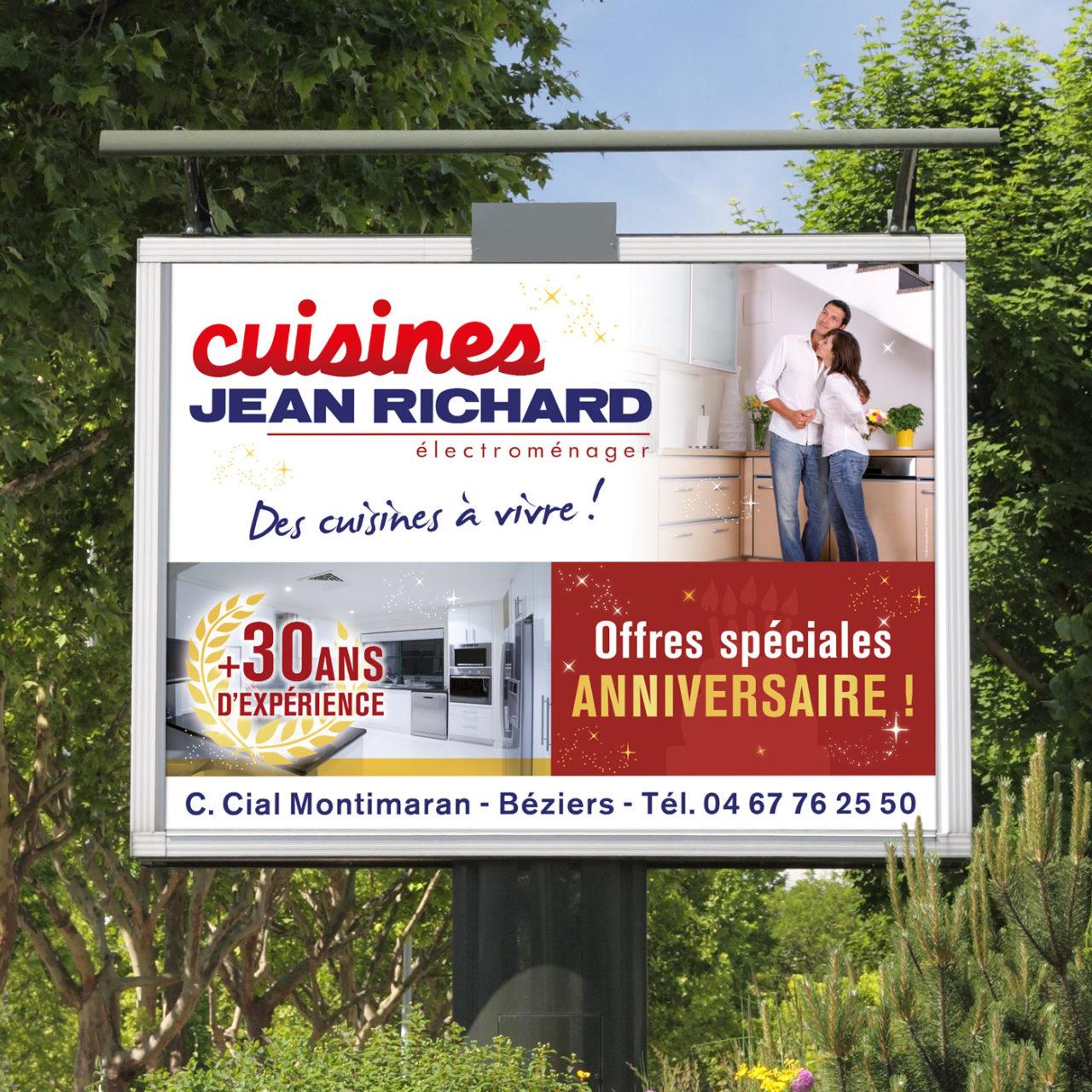 Création publicité Cuisines Jean Richard à Béziers