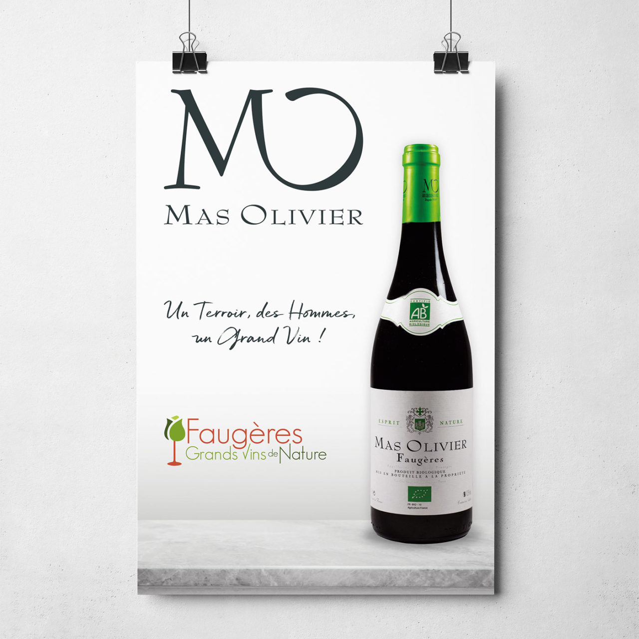 Création graphique Affiche Mas Olivier à Faugères