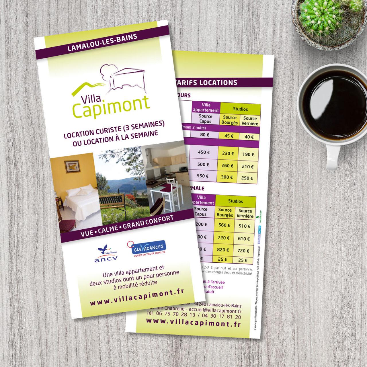 Flyer Villa Capimont Lamalou les Bains