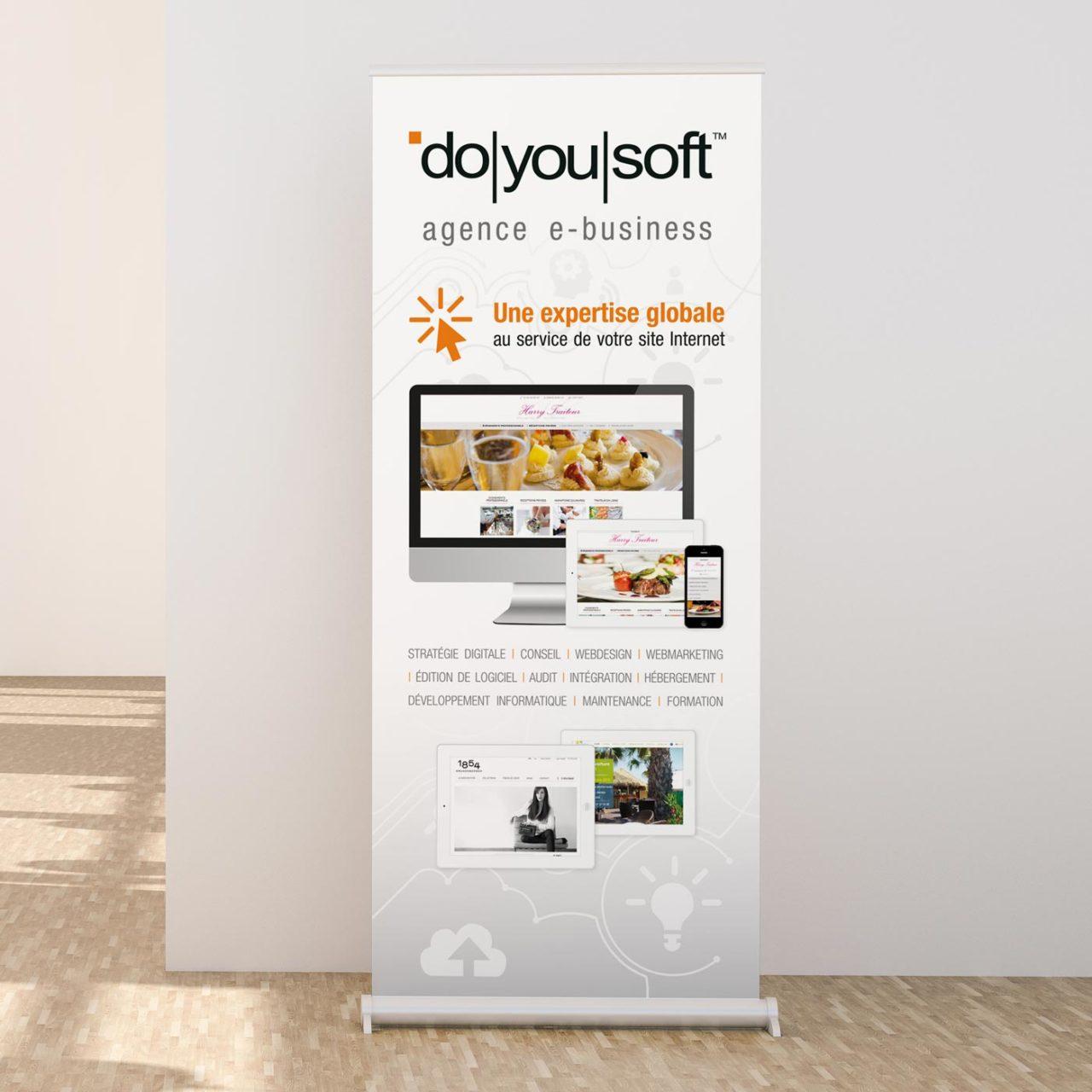 Création graphique kakémono Doyousoft